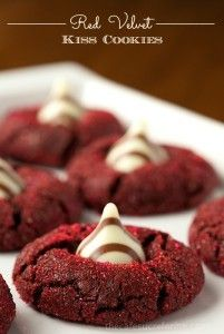 Red Velvet Kiss Cookies - the most delicious, fun, festive cookies you'll ever have the pleasure of meeting!