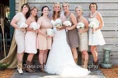 Mismatched Bridesmaids at the Rocking L Ranch, Cocoa, Florida