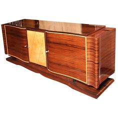 Stunning French Art Deco Grand Macassar Ebony Buffet For Sale