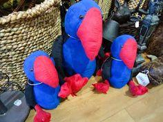 Stuffed Pukekos Kiwiana, Flora, Baby Shower, Make It Yourself, Gifts, Babyshower, Presents, Plants, Favors