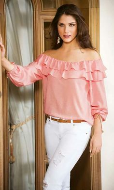 Pink Outfits, Casual Outfits, Fashion Outfits, Womens Fashion, Fashion Trends, Red Blouses, Blouses For Women, Designer Party Dresses, Blouse Online
