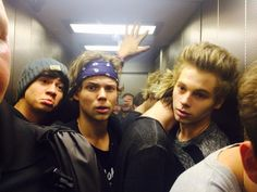 Luke is like 'when can I get outta here?'and calum is like hmm its actually not as bad as i thought