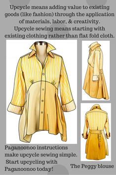 #paganoonoo upcycle sewing instructions- the Peggy blouse