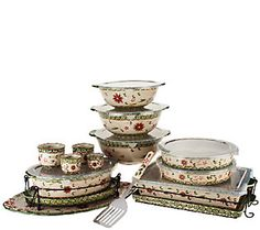 Temp-tations Old World 18-pc Bake and Serve Set - love how many pieces I get and the many ways I can use them