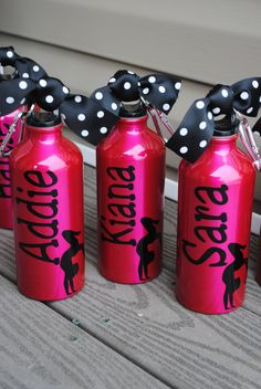 Aluminum Water Bottle Soccer Baseball Basketball Tennis Dance Gymnastics Team Theme   Your Team Colors   Any Sport Can Be Done. $7.97, via Etsy.