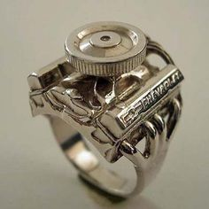 Small Block Chevy Ring aka the redneck wedding band.... lol but I still want one