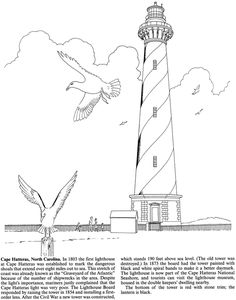 North American Lighthouses Coloring Book Welcome to Dover Publications