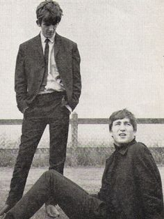 thateventuality: Scan - George Harrison and John Lennon, the summer of 1963 Photo: The Beatles Book