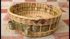 #1084 Мастер-класс c Ниной Корзинка из газет Woven basket from newspaper...