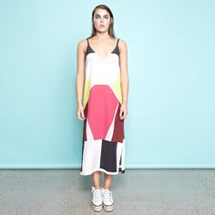 Body Map Maxi Dress with Side Splits  Shop online now: www.shakuhachi.net  Questions? Email: admin@shakuhachi.net