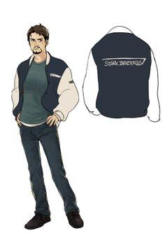 Tony Stark's letter jacket (art by nerdpipo)