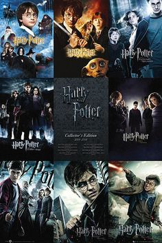 Buy Harry Potter Films Collage Wall Poster online and save! Harry Potter Films Collage Wall Poster Maxi Poster Our posters are rolled, wrapped and shipped in poster mailing tubes Harry Potter Poster, Tous Les Films Harry Potter, Harry Potter All Movies, Saga Harry Potter, Harry Potter World, Collection Harry Potter, Movie Collection, Harry Potter Wallpaper, Hogwarts