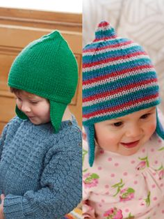This cute little hat can be knitted in one beautiful shade or in lovely stripe sequence of Baby Merino Silk DK for either a little girl or little boy. Designed by Lisa Richardson