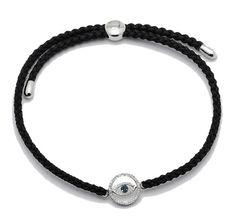 Tracey Bregman Sterling Silver Diamond Charm Adjustable Bracelet