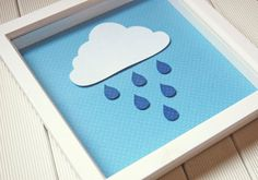 SVG Cloud and Raindrop Wall Decor by CreateTheCutPaper on Etsy, £1.50