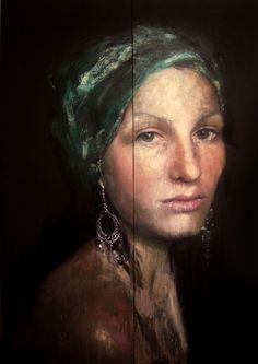 Roberta Coni, Omaggio a Vermeer p.3 140x200cm, 2009
