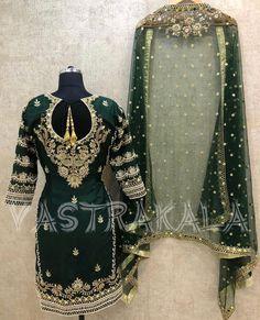 Pinterest: @pawank90 Pakistani Bridal Wear, Pakistani Dress Design, Pakistani Dresses, Indian Dresses, Indian Outfits, Simple Indian Suits, Ladies Suits Indian, Indian Attire, Punjabi Suits Designer Boutique