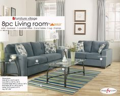 You could revamp your living room like this! Here is one of six living room sets you could win!