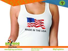 Big Frog of Valrico specializes in custom printed t-shirts & apparel. No minimums, free design, full color prints & 24 hour turnaround. American Pride, American Flag, Patriotic Shirts, Free Design, Custom Shirts, Screen Printing, Custom Made, Tank Man, Just For You