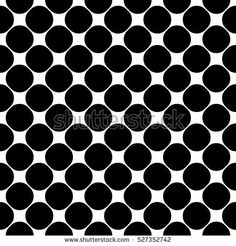 Vector seamless pattern, smooth geometric figures, circles. Monochrome illustration of mesh, lattice. Simple black & white texture, abstract repeat background. Design element for prints, digital, web