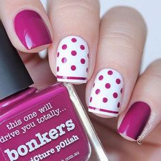 Polka Dots Nail Art TopPolka dot pattern is obtaining very stylish recently with its straightforward and loveable look. Polka dots nails also are straightforward to form. you'll whole produce by yourself and add fun and joy within the style.Well, no Fancy Nails, Trendy Nails, Diy Nails, Manicure Ideas, Nail Manicure, Gel Nail, Shellac, Acrylic Nails, Dot Nail Art