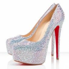 Cheap Christian Louboutin Dame Daffodile 160mm Pumps Aurora Boreale Crystal