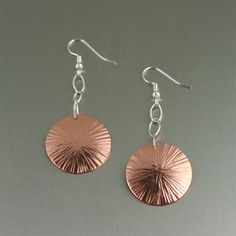 Chic Copper Earrings For a 7th Anniversary Gift