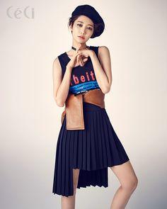 Korean Actress Go Joon [Jun] Hee Ceci Magazine July 2015 Photoshoot Fashion Korean Girl Fashion, Ulzzang Fashion, High Fashion, Go Jun Hee, Haute Couture Style, Fashion Poses, Photoshoot Fashion, Mode Editorials, Girl Short Hair