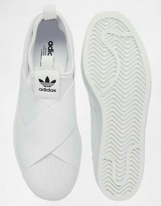 detailed look d7a13 f7da0 Adidas Slip On Shoes, Adidas Slip On Outfit, Adidas Shoes White, White Slip