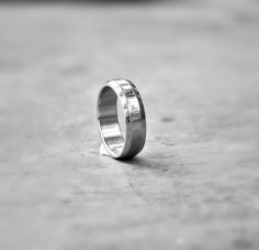 Round 6 mm Ridge Stainless Steel Ring  Sturdy Wedding by EilaBelle