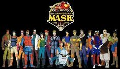 Awesome fan art montage of M.A.S.K. agents for the 25th anniversary.