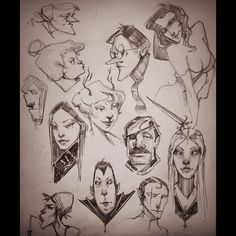 """Danielle Otrakji, """"Taking a break from my comic and Sketching some characters"""""""