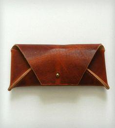 Handmade Leather Eyewear Case  Crow SLC