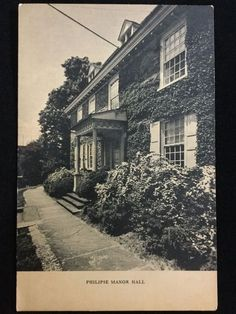 Early 1900s Philipse Manor Hall, Yonkers, NY postcard