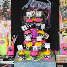 Awesome 80's Birthday Party {80s party theme}