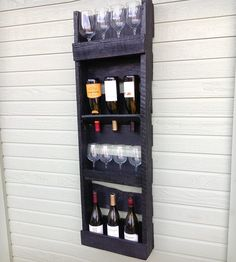 4-Tier Reclaimed Wood Wine Rack | Themes Boozy | Del Hutson | Scoutmob Shoppe | Product Detail