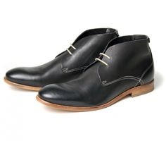 H by Hudson Osbourne in Black Calf       H by Hudson