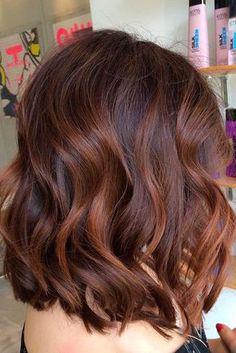 12 Braun Lob Mit Kupfer Strahnen Haare Hair Hair Highlights Und