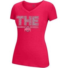 Ncaa Ohio State Women's Choice Soft Cotton V-Neck Tee, Size: XL, Red
