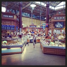 Wish I could afford to buy everything from this gorgeous indoor gourmet market Sweden Stockholm, World's Best Food, Four Square, Things To Do, Cruise, Street View, Marketing, Fallout, Tiffany