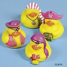 around 9.oo for 12 (1) Pk 12 GIRLS ~ PINK PIRATE ~ RUBBER DUCKS Party Ducky FAVORS Gifts