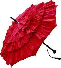gorgeous ruffled umbrella!