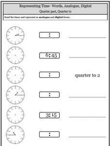 Quarter Past To Fill In Blank Times Telling Time Worksheets Time Worksheets Telling Time Worksheets Telling Time