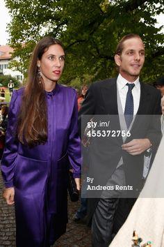 9/13/14. Andrea Casiraghi and Tatiana Santo Domingo attend...