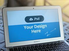Macbook Template PSD - FREE by David Kovalev
