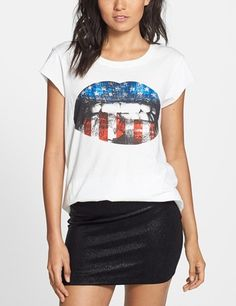 Love this! Showing some American pride with a rock 'n' roll edge.