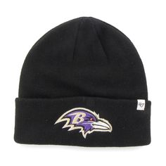 02071c33bdb Baltimore Ravens Raised Cuff Knit Black 47 Brand Hat - Great Prices And  Fast Shipping at Detroit Game Gear