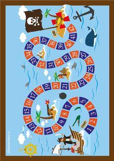 Pirate Day, Pirate Birthday, Pirate Theme, Games For Kids, Art For Kids, Crafts For Kids, Pirate Activities, Activities For Kids, Printable Board Games