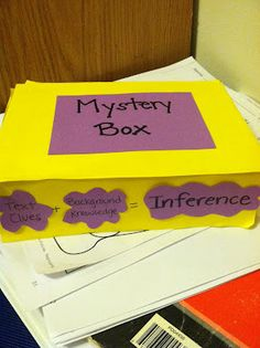 This could be a student's job (to put something in the box and write three clues) on the Class Jobs chart!