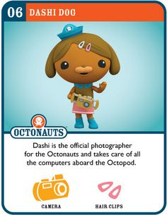 Printable cards for all of the Octonauts, several Gups, and the Octopod